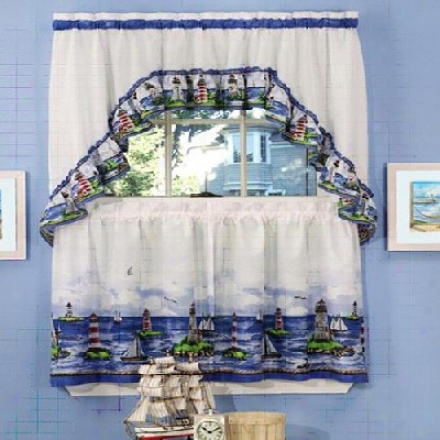 Get That Country Style Kitchen Look With Cotton Kitchen Curtains